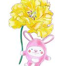 Bunny Pink with Yellow Peonia by RagAragno