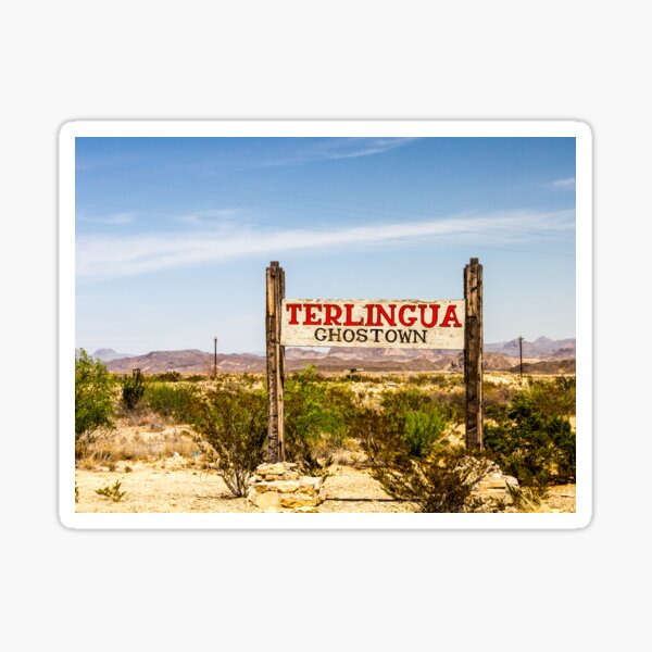 Terlingua Ghost Town Sign Sticker