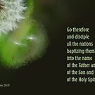 Go Therefore ~ Matthew 28:19 by Robin Clifton
