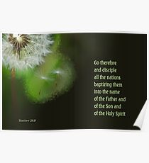 Go Therefore ~ Matthew 28:19 Poster