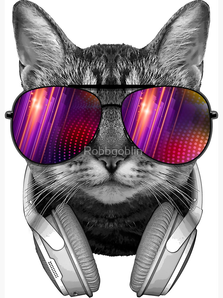 Sunglasses Cat by Robbgoblin