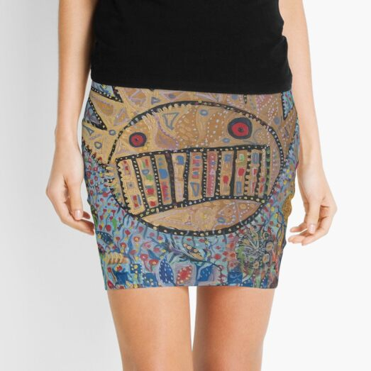 Ween Boognish and flowers Mini Skirt