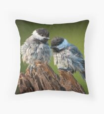 All fluffed up and nowhere to go! Throw Pillow