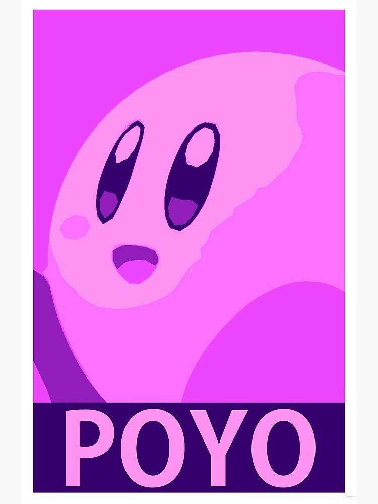 Kirby Poyo Obama Hope Poster Design Greeting Card By Tylerdesigns Redbubble Poyopoyo , poyopoyo kansatsu nikki , poyopoyo observation diary , anime , ikue ohtani , poyo , crunchyroll poyopoyo , comedy , slice of life redbubble