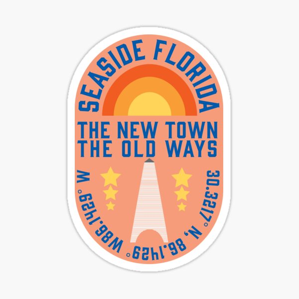 SEASIDE FLORIDA STICKER Sticker