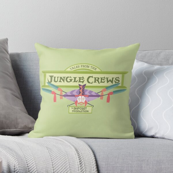 Tales from the Jungle Crews Podcast Logo Throw Pillow