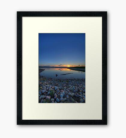 Rocky Mountain Sunset Series - Deep Blues Framed Print