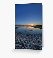 Rocky Mountain Sunset Series - Deep Blues Greeting Card