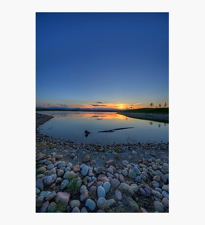 Rocky Mountain Sunset Series - Deep Blues Photographic Print