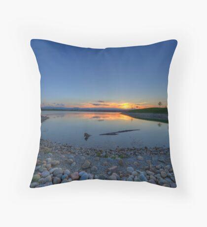 Rocky Mountain Sunset Series - Deep Blues Throw Pillow