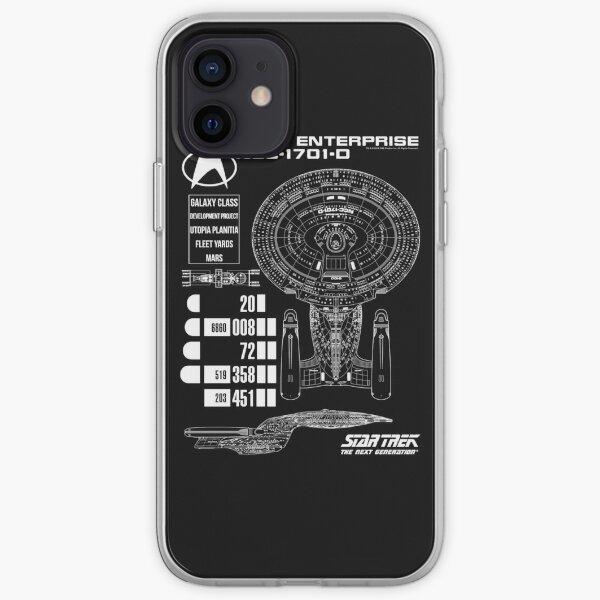 Star Trek Next Generation U.S.S Enterprise Schematics iPhone Soft Case