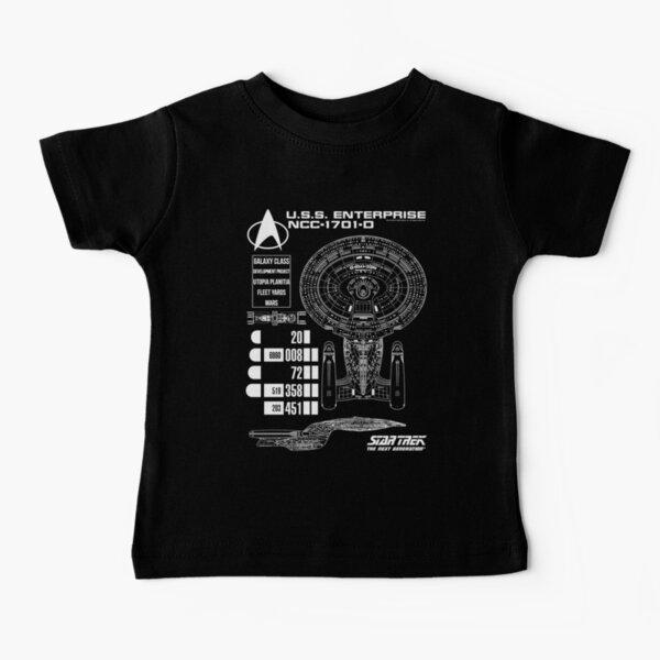 Star Trek Next Generation U.S.S Enterprise Schematics Baby T-Shirt