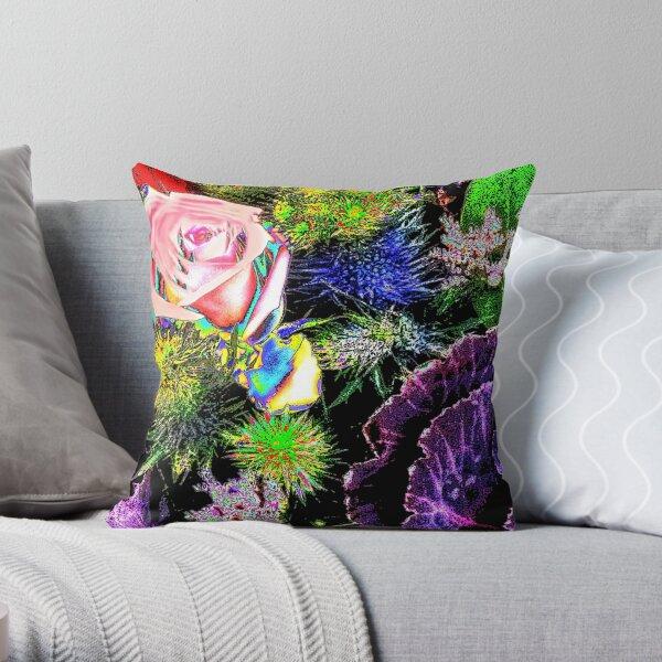Winter Floral Mix 1 Throw Pillow