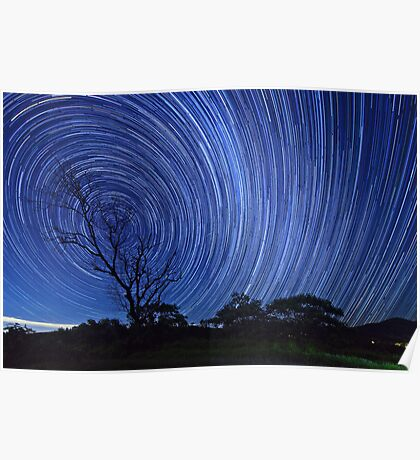 Startrails on a Moonless night Poster
