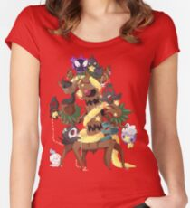 Ghostly Christmas Women's Fitted Scoop T-Shirt