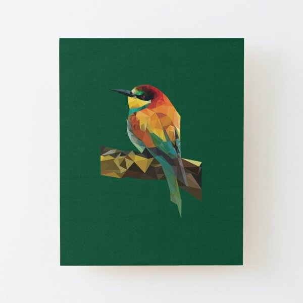 Colorful Bee Eater Bird (No Background) Wood Mounted Print