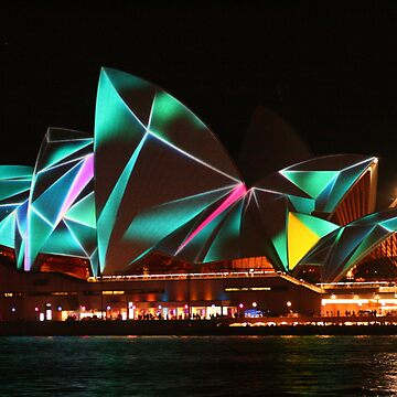 Opera House Vivid lights by Michaelm43