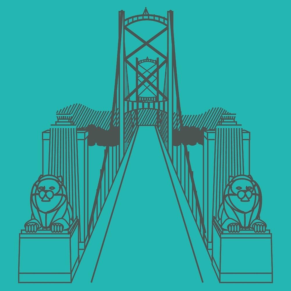 Lionsgate Bridge, Vancouver by James Hindermeier