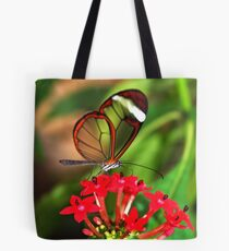 On Red Flower Glasswing - Greta Oto Tote Bag