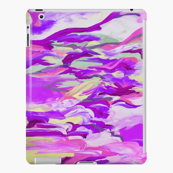 STILL UP IN THE AIR 2, Colorful Plum Lavender Lilac Purple Pink Clouds Swirls Abstract Acrylic Painting iPad Snap Case