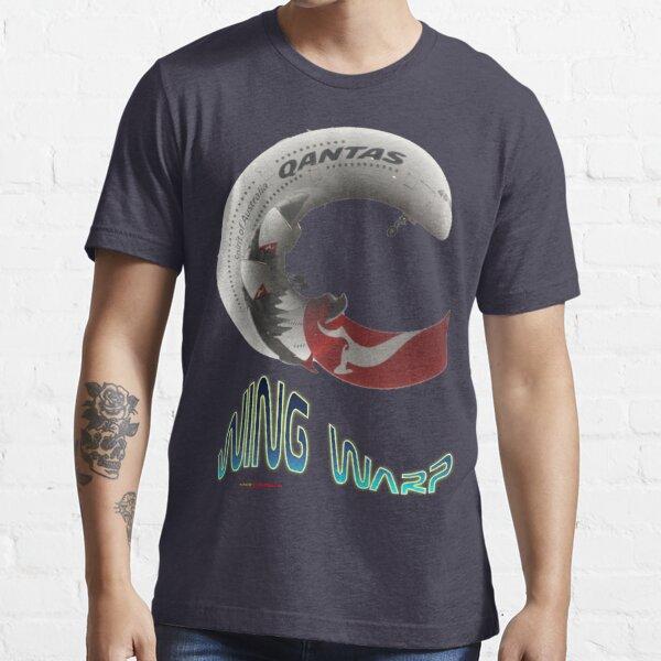 QANTAS Airbus A380 WingWarp T-shirt Design Essential T-Shirt