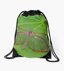 Wings of Glass - Glasswing - Greta oto Drawstring Bag