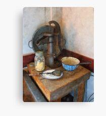 Water Pump in Kitchen Canvas Print