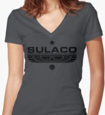 Sulaco Women's Fitted V-Neck T-Shirt