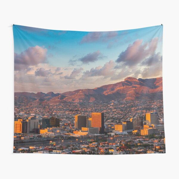 El Paso Downtown Sunrise Tapestry