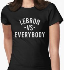 LeBron VS Everybody | White Women's Fitted T-Shirt