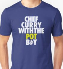 Chef Curry With The Pot Boy [With 3 Sign] White/Gold T-Shirt