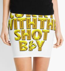 Steph Curry With The Shot Boy [With 3 Sign] Shiny Gold Mini Skirt