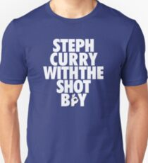 Steph Curry With The Shot Boy [With 3 Sign] White T-Shirt