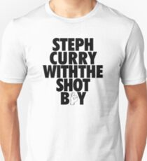 Steph Curry With The Shot Boy [With 3 Sign] Black T-Shirt