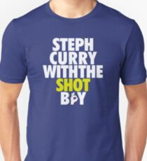 Steph Curry With The Shot Boy [With 3 Sign] White/Gold Unisex T-Shirt