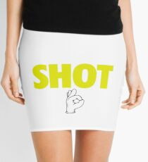 Steph Curry With The Shot Boy [With 3 Sign] White/Gold Mini Skirt