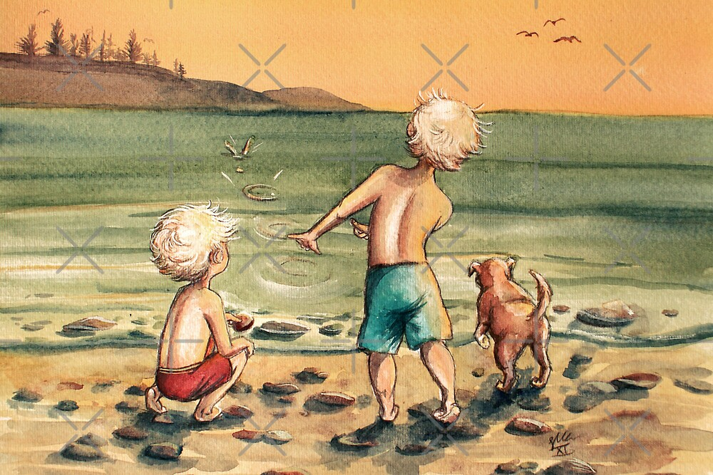 Skipping Stones by Sarah  Mac Illustration