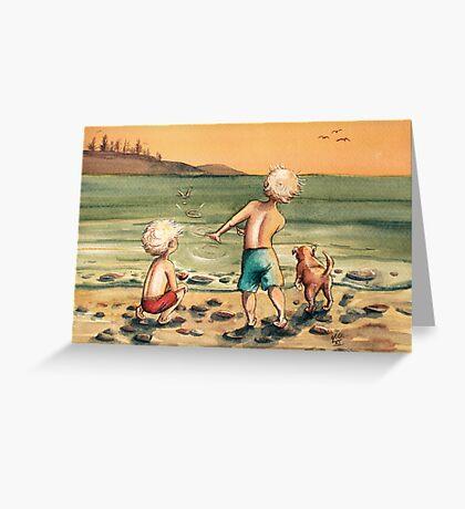 Skipping Stones Greeting Card