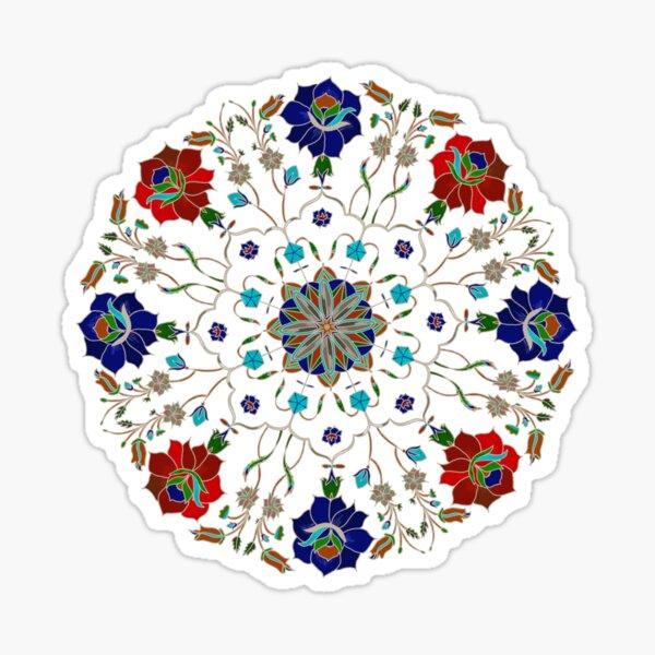 Taj Mahal Floral Mosaic Sticker
