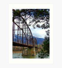 The Old Steel Bridge Art Print