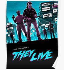 They Live Retro Print Poster