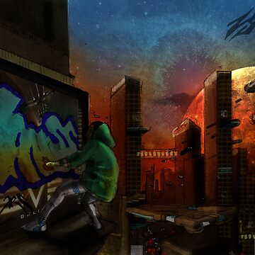 Futuristic city by thalilarsenic