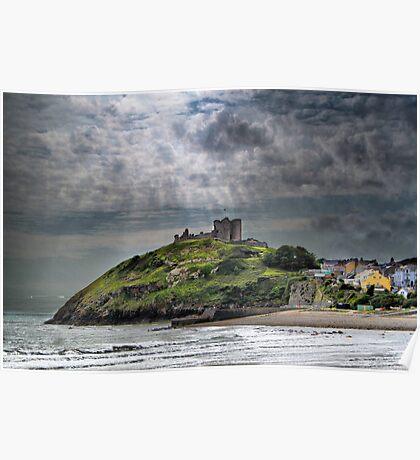 Criccieth Castle Poster