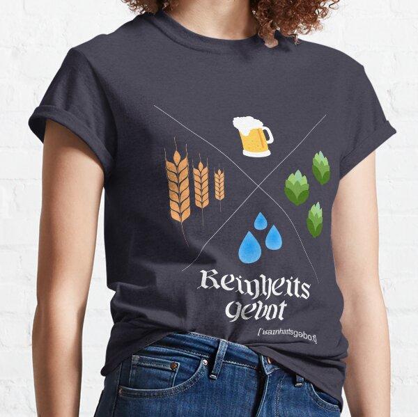 German Beer Purity Law Reinheitsgebot  Classic T-Shirt