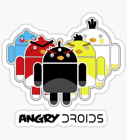 Angry Droids (sticker) + IPhoneCase Sticker