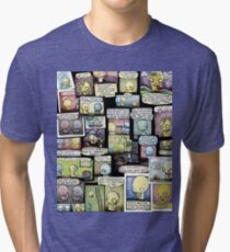 Pon and Zi Collage Tri-blend T-Shirt