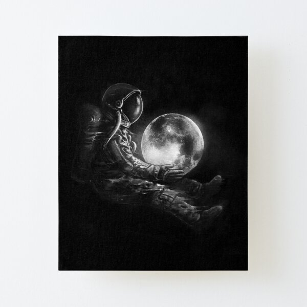 Moon Play Canvas Mounted Print