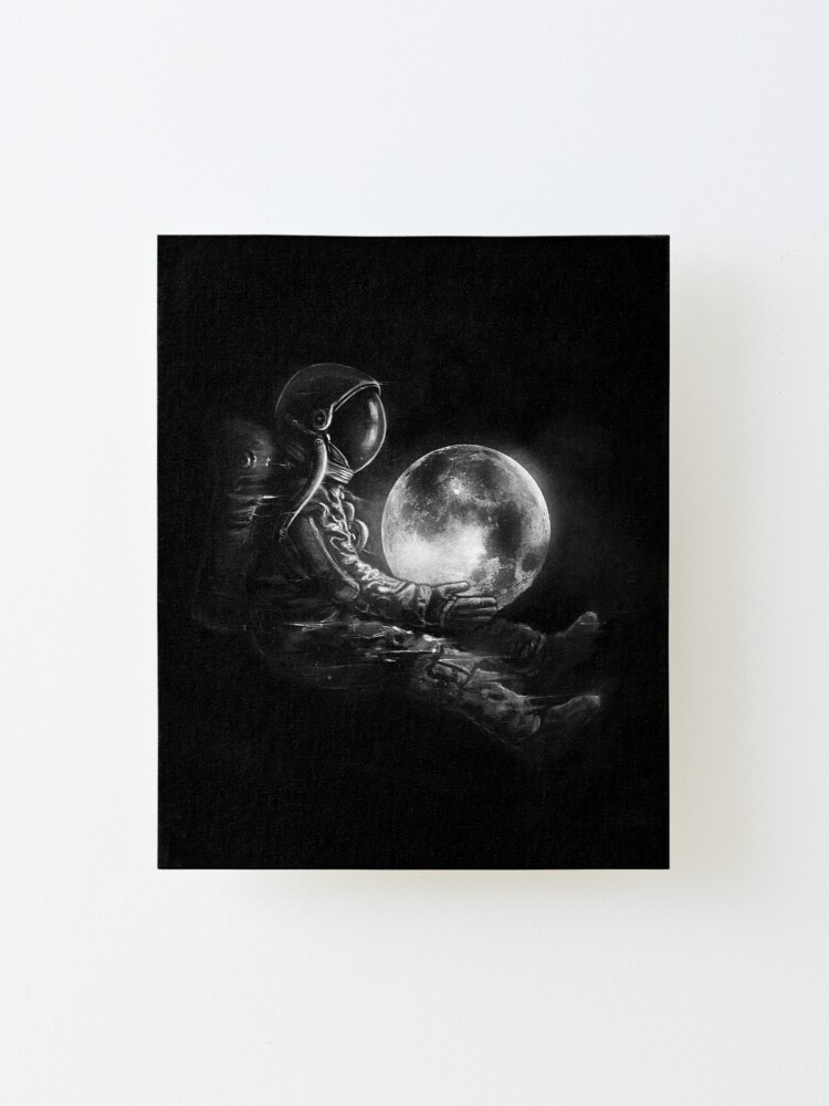 Alternate view of Moon Play Mounted Print