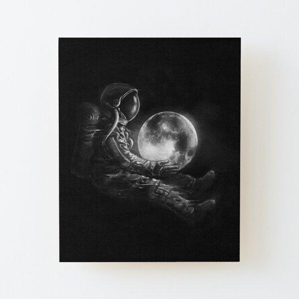 Moon Play Wood Mounted Print
