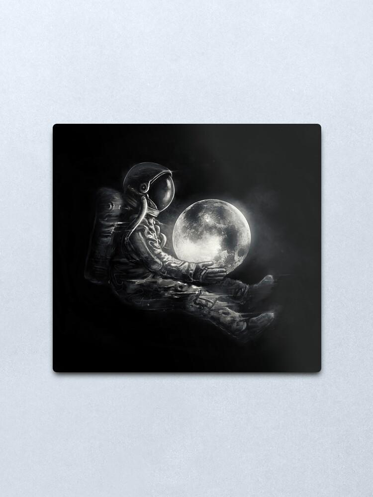 Alternate view of Moon Play Metal Print